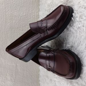 G.H. Bass & Co. Weejuns Burgundy Genuine Leather Slip On Penny Loafer Shoes